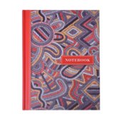 Записная книжка Buromax Weave А6 64 л. в клетку твердая обложка красная (BM.24614103-05)