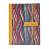Записная книжка Buromax Weave А6 64 л. в клетку твердая обложка желтая (BM.24614103-08)