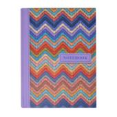 Записная книжка Buromax Weave А6 64 л. в клетку твердая обложка розовая (BM.24614103-10)