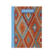 Записная книжка Buromax Weave А6 64 л. в клетку твердая обложка голубая (BM.24614103-14)
