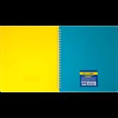 Тетрадь на пружине Buromax Ukraine, B5, 96 л, клетка, пласт. обложка, разделитель (BM.2464-85)
