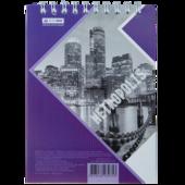 Блокнот Buromax Metropolis 48 листов А6 в клетку Фиолетовый (BM.24645101-07)