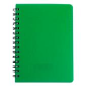 Тетрадь Buromax Rain 80 листов А5 в клетку пластиковая обложка Зеленый (BM.24552152-04)