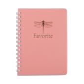 Тетрадь для записей Buromax Favourite Pastel А6 80 л в клетку пластиковая обложка розовая (BM.24652154-10)
