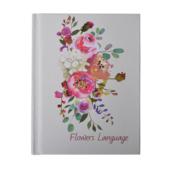 Блокнот Buromax Flowers Language A6 в клетку 64 листа Белый перламутр (BM.24671101-31)