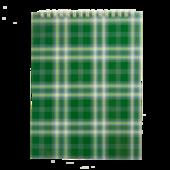 Блокнот на пружине сверху Buromax, А5, 48 л, клетка, зеленый (BM.2470-04)