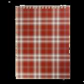 Блокнот на пружине сверху Buromax, А5, 48 л, клетка, бордовый (BM.2470-13)