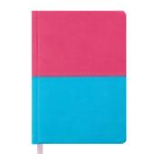 Ежедневник недатированный Buromax Quattro, А6, 288 стр., розовый+бирюзовый (BM.2609-90)