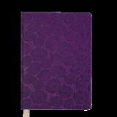 Ежедневник недатированный Buromax Fleur A6 из искусственной кожи 288 с. Фиолетовый (BM.2617-44)