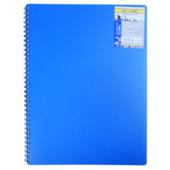 Книга для записей на пружине Buromax Classic, А6, 80 л, клетка, пласт. обложка, синий (BM.2589-002)