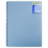 Книга для записей на пружине Buromax Classic, А6, 80 л, клетка, пласт. обложка, серый (BM.2589-009)
