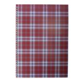 Тетрадь на пружине сбоку Buromax Shotlandka, А4, 48л., клетка, картонная обложка, бордо (BM.2590-13)