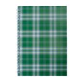 Тетрадь на пружине сбоку Buromax Shotlandka, А5, 48л., клетка, картонная обложка, зеленый (BM.2591-04)