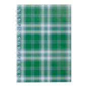 Тетрадь на пружине сбоку Buromax Shotlandka, А6, 48л., клетка, картонная обложка, зеленый (BM.2592-04)