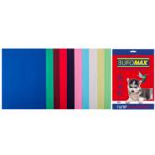Набор цветной бумаги Buromax, А4, 80г/м2, DARK+PASTEL, 10 цветов, 50 листов (BM.27211150-99)