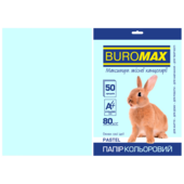 Бумага цветная Buromax, А4, 80г/м2, PASTEL, голубой, 50 листов (BM.2721250-14)