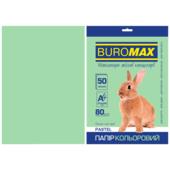 Бумага цветная Buromax, А4, 80г/м2, PASTEL, светло-зеленый, 50 листов (BM.2721250-15)
