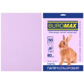 Бумага цветная Buromax, А4, 80г/м2, PASTEL, лавандовый, 50 листов (BM.2721250-39)