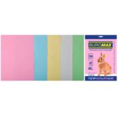Набор цветной бумаги Buromax, А4, 80г/м2, PASTEL, 5 цветов, 50 листов (BM.2721250-99)