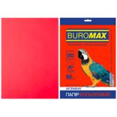 Бумага цветная Buromax, А4, 80г/м2, INTENSIV, красный, 20 листов (BM.2721320-05)