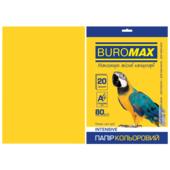 Бумага цветная Buromax, А4, 80г/м2, INTENSIV, желтый, 20 листов (BM.2721320-08)