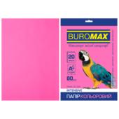 Бумага цветная Buromax, А4, 80г/м2, INTENSIV, малиновый, 20 листов (BM.2721320-29)
