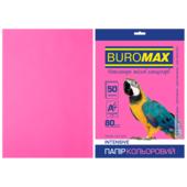 Бумага цветная Buromax, А4, 80г/м2, INTENSIV, малиновый, 50 листов (BM.2721350-29)