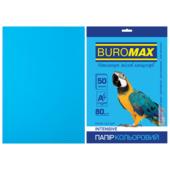 Бумага цветная Buromax, А4, 80г/м2, INTENSIV, светло-синий, 50 листов (BM.2721350-30)