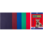 Набор цветной бумаги Buromax, А4, 80г/м2, DARK, 5 цветов, 20 листов (BM.2721420-99)