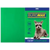 Бумага цветная Buromax, А4, 80г/м2, DARK, темно-зеленый, 50 листов (BM.2721450-04)