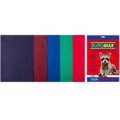 Набор цветной бумаги Buromax, А4, 80г/м2, DARK, 5 цветов, 50 листов (BM.2721450-99)