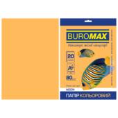 Бумага цветная Buromax, А4, 80г/м2, NEON, оранжевый, 20 листов (BM.2721520-11)