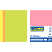 Набор цветной бумаги Buromax NEON, А4, 80г/м2 (4х50/200л.) (BM.27215200-99)