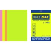 Набор цветной бумаги Buromax Neon А4 200 л. (BM.27215200E-99)
