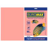 Бумага цветная Buromax, А4, 80г/м2, NEON, розовый, 50 листов (BM.2721550-10)