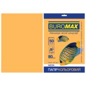 Бумага цветная Buromax, А4, 80г/м2, NEON, оранжевый, 50 листов (BM.2721550-11)