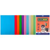 Набор цветной бумаги Buromax, А4, 80г/м2, PASTEL+INTENSIV, 10 цветов, 20 листов (BM.2721620-99)