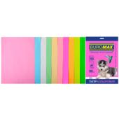 Набор цветной бумаги Buromax, А4, 80г/м2, PASTEL+NEON, 10 цветов, 50 листов (BM.2721750-99)