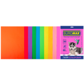 Набор цветной бумаги Buromax, А4, 80г/м2, NEON+INTENSIV, 10 цветов, 50 листов (BM.2721850-99)