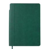 Блокнот деловой Buromax FRESH, А5, 96 л., клетка, зеленый, иск.кожа (BM.295111-04)