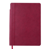Блокнот деловой Buromax FRESH, А5, 96 л., клетка, т.-красный, иск.кожа (BM.295111-13)