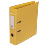 Регистратор Buromax Elite, А4, 70 мм, рычаж. мех, двухстор., желтый (BM.3001-08c)