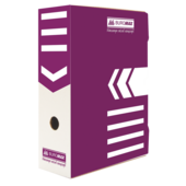 Бокс для архивации документов Buromax, 100 мм, фиолетовый (BM.3261-07)
