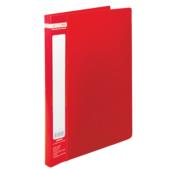 Папка пластиковая со скоросшивателем Buromax Jobmax, А4, красный (BM.3406-05)