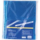 Файлы для документов синие Buromax, А4, глянцевый, 40 мкн, 100 шт (BM.3810-02)