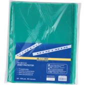 Файлы для документов зеленые Buromax, А4, глянцевый, 40 мкн, 100 шт (BM.3810-04)