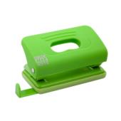 Дырокол Buromax пластиковый RUBBER TOUCH, 10л., св-зеленый (BM.4016-15)