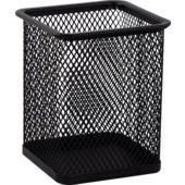 Подставка для ручек металлическая Buromax, квадратная, черный (BM.6201-01)