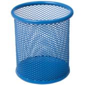 Подставка для письменных принадлежностей Buromax металлическая 90х98 мм Синяя (BM.6202-02)