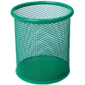 Подставка для письменных принадлежностей Buromax металлическая 90х98 мм Зеленая (BM.6202-04)